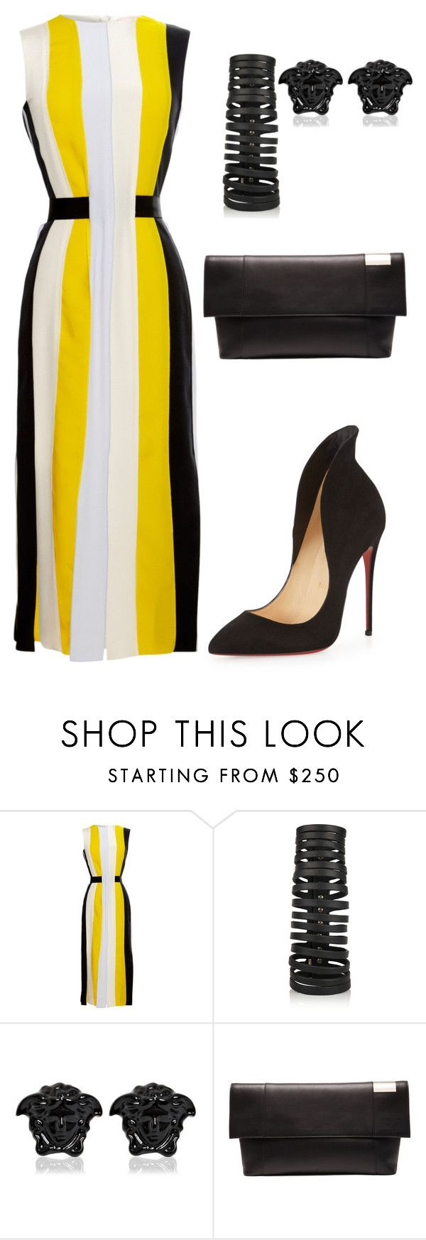 helia's style theory by heliaamado on Polyvore featuring Roksanda, Christian Louboutin, Victoria Beckham, Rick Owens and Versace