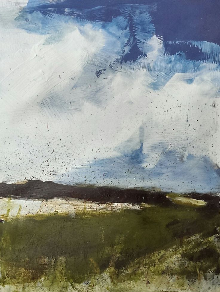 """Contemporary landscape painting. Acrylic on Paper, 8"""" x 10"""", 2015. For more examples please visit davidbrownpainter.... All work for sale"""