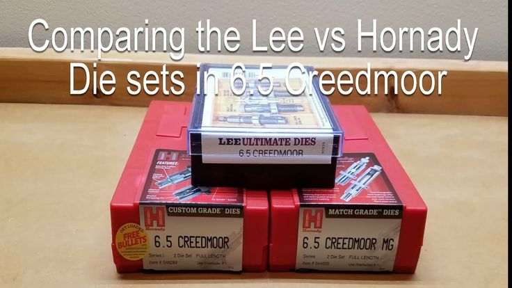 Comparing the Hornady Custom, Hornady Match, and Lee Reloading Die Sets ...