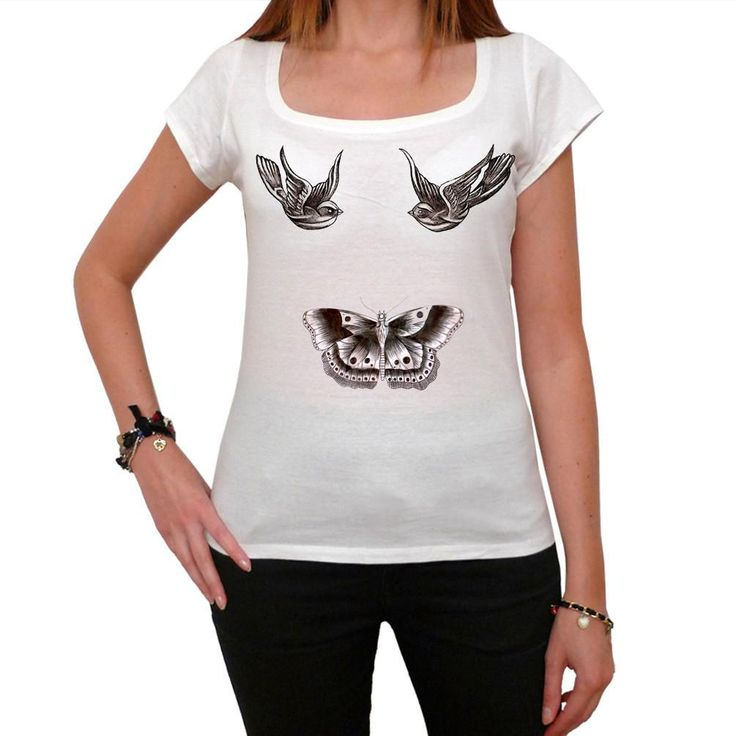 Harry Styles Tattoo t-shirt birds Butterfly One Direction t-shirt Short-Sleeve Top celebrity 7015359