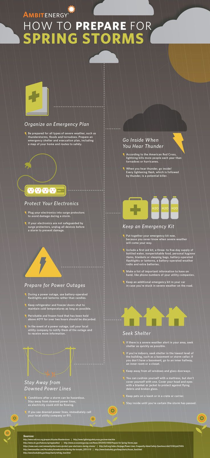 How to Prepare for Spring Storms #Infographic.Spring is a time of year when unpredictable weather can cause severe problems. Especially if you live in areas that are prone to thunderstorms, tornadoes or flooding, being prepared is the key to ensuring your safety during and after a storm.