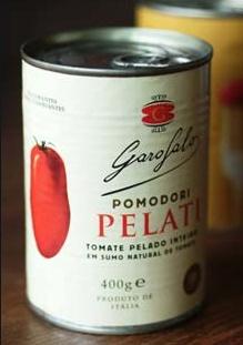 Packaging pomodori pelati Garofalo. Angelini design Roma