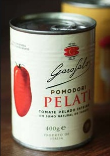Packaging pomodori pelati Garofalo. Angelini design Roma