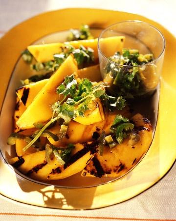 Grilled Mangoes with Jalapeno Vinaigrette