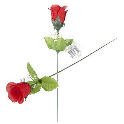 Kunst roos rood 49 cm 1 st.