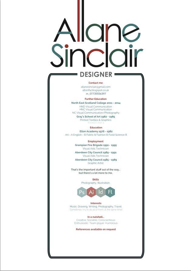 117 best Self Promotion, CVs and Portfolios images on Pinterest - promotion on resume
