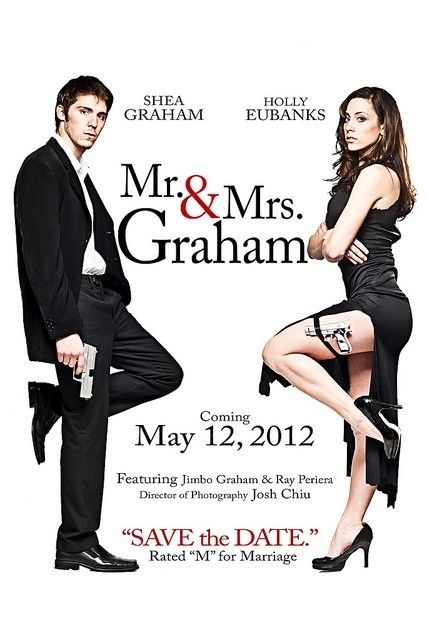 36 Cute And Clever Ways To Save The Date (reenact a movie poster.. )