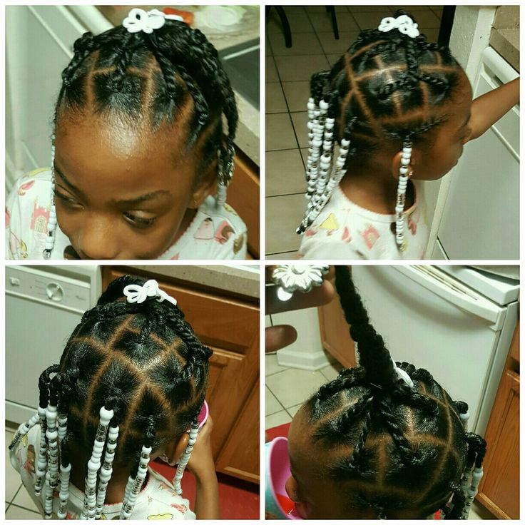 Hair Ideas For Little, Black Girls. Braids, Beads, And