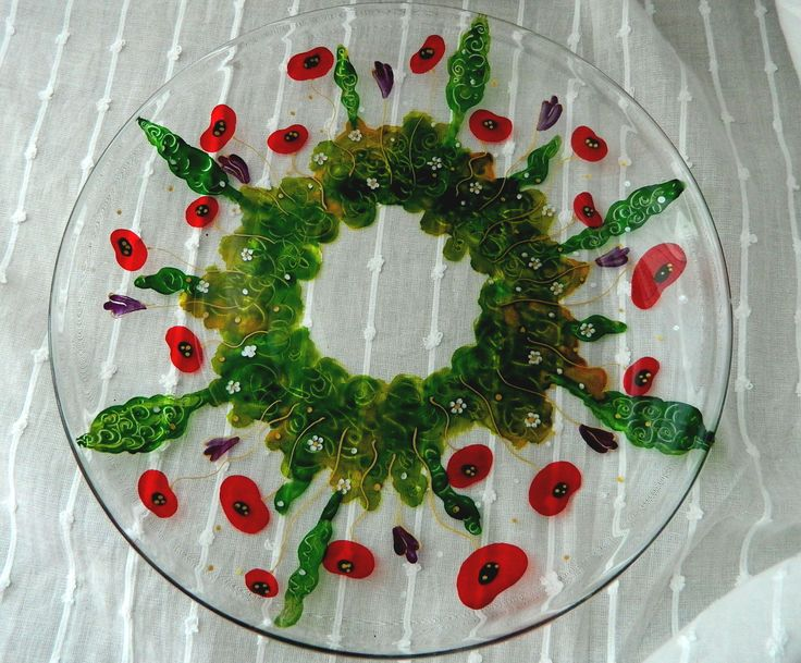 Poppy field on a serving plate!