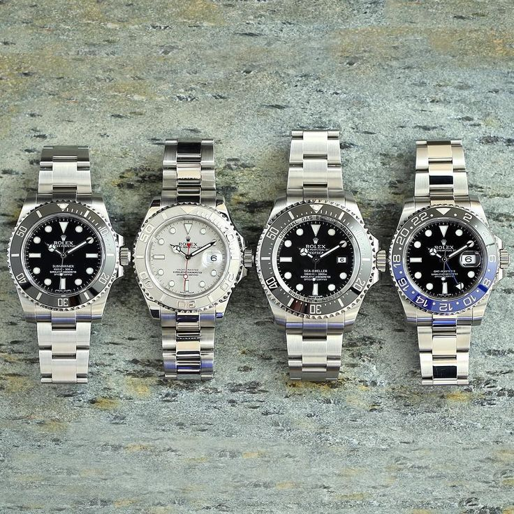 Bunch of steel today. 1 114060 No Date Submariner 2 16622 Yacht Master 3 116660…
