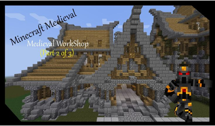 Minecraft medieval workshop tutorial part 2 of 3 how for What is needed to build a house