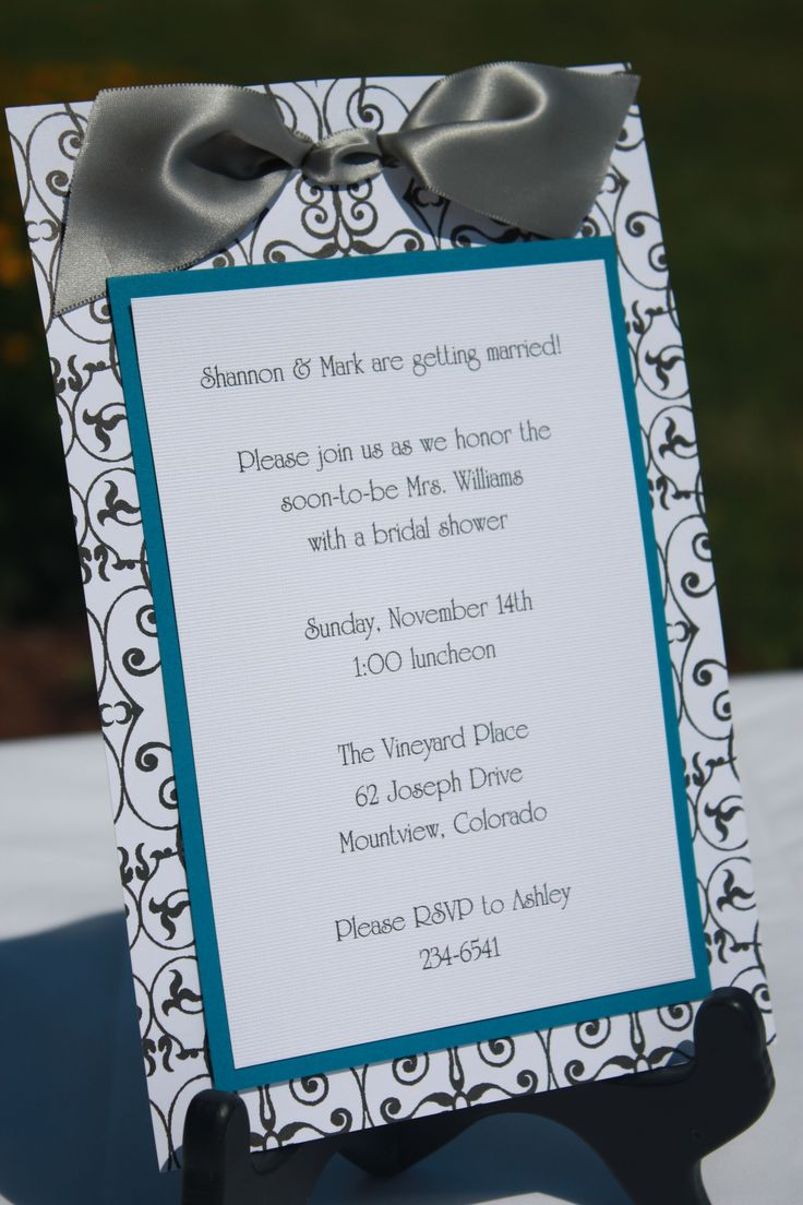 Handmade Bridal Shower Invitations | homemade invitations-bridal3