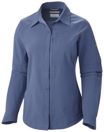 Columbia Women's Silver Ridge Long-Sleeve Shirt Plus Sizes Bluebell 2X