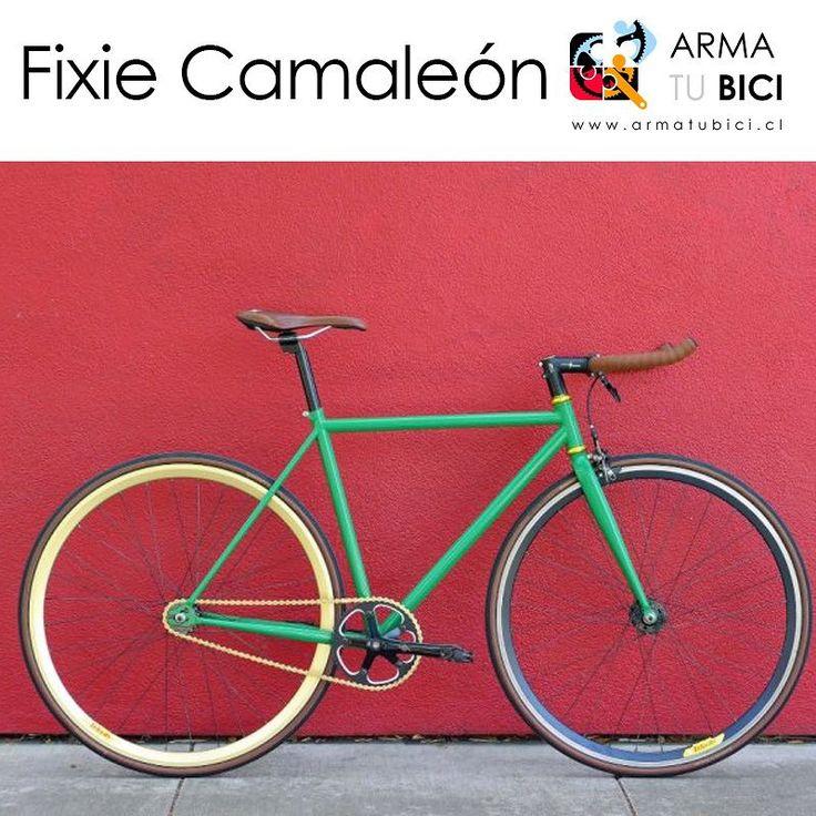 #bicicleta #fixie 'Camaleón' desde $194.900 en #armatubici_cl ! Piñón fijo-libre. Disponible también con cambios y marco de aluminio. Más #bicicletas en www.armatubici.cl #arribadelachancha #furiososciclistas #ciclistasurbanos #enbiciando #ciclistaschile