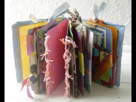 How to Make 100% recycled Art Journal from Cereal Boxes