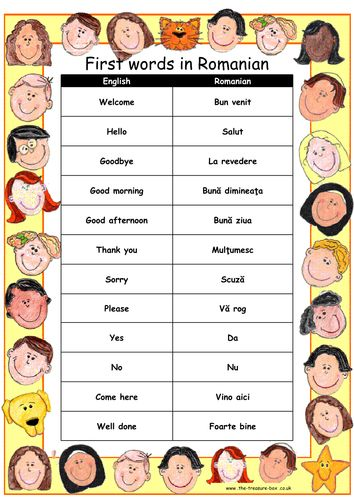 Useful words and phrases in Romanian ~ Ideal for children with a Romanian heritage