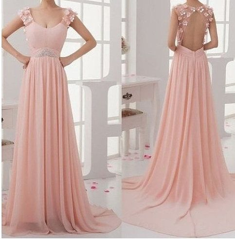 dresses #pink long Backless dress #prom dress prom dresses