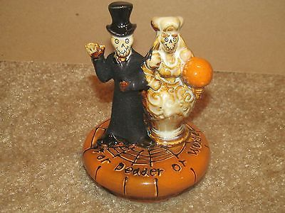 YANKEE CANDLE BONEY BUNCH HALLOWEEN HOME DECO WEDDING COUPLE JAR TOPPER 2011 OOP