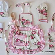 Kit Provençal Infantil - Mini Chefe na Cozinha com todos os Acessórios