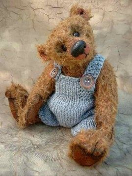 Cottage Charm ~ blue and brown ~ Teddy