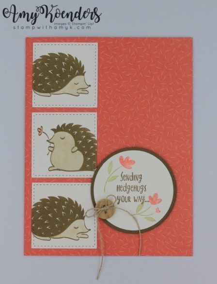 Stampin' Up! Hedgehugs for Sunday Stamps – Stamp With Amy K