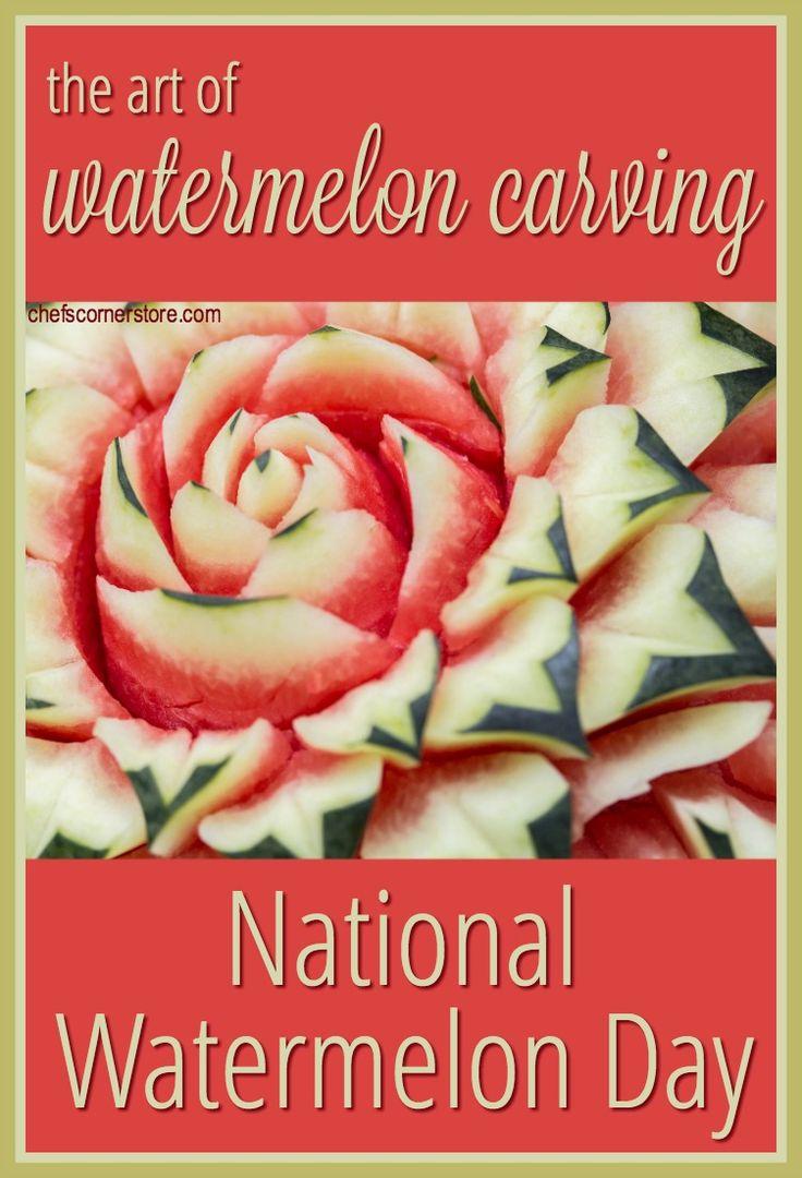 It's National Watermelon Day, and we're sharing cool watermelon carving ideas. No matter how your carvings turn out, at least you can always eat them.