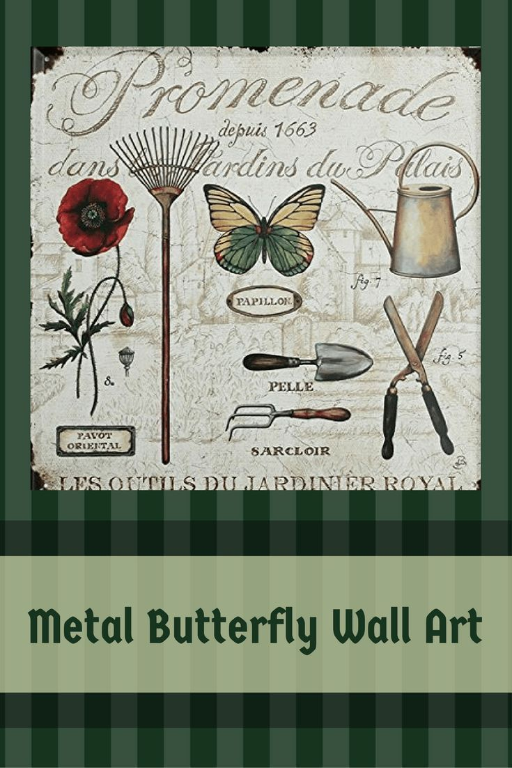 Vibrant unique and trendy metal butterfly wall art metal