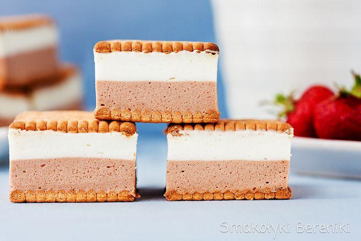 ciasto kakaowo-śmietankowe na herbatnikach