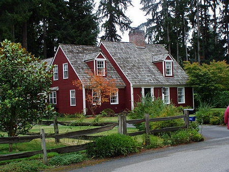 169 best images about red house on pinterest for Colonial cape