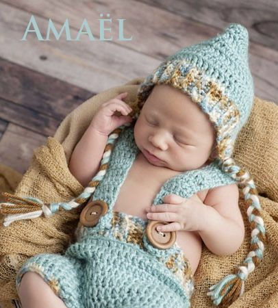 Prénom masculin, Amaël est un dérivé de Maël, du mot celte « maël », qui signifie « chef, prince …