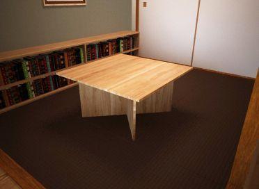 簡単な組み立てローテーブルのイメージ