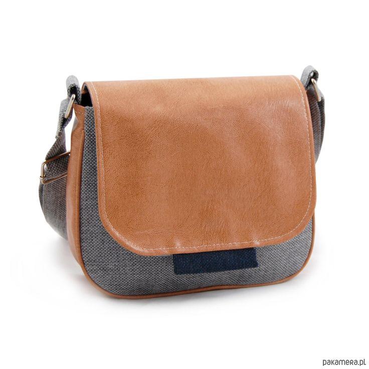 torby na ramię - damskie-BAMBI - mała torebka - szary, granat i beż