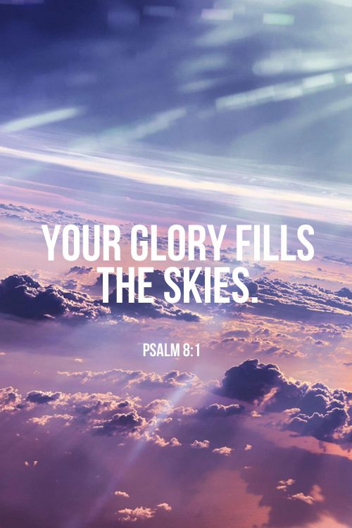 His glory fills the sky's. God is greater than the highs and lows.