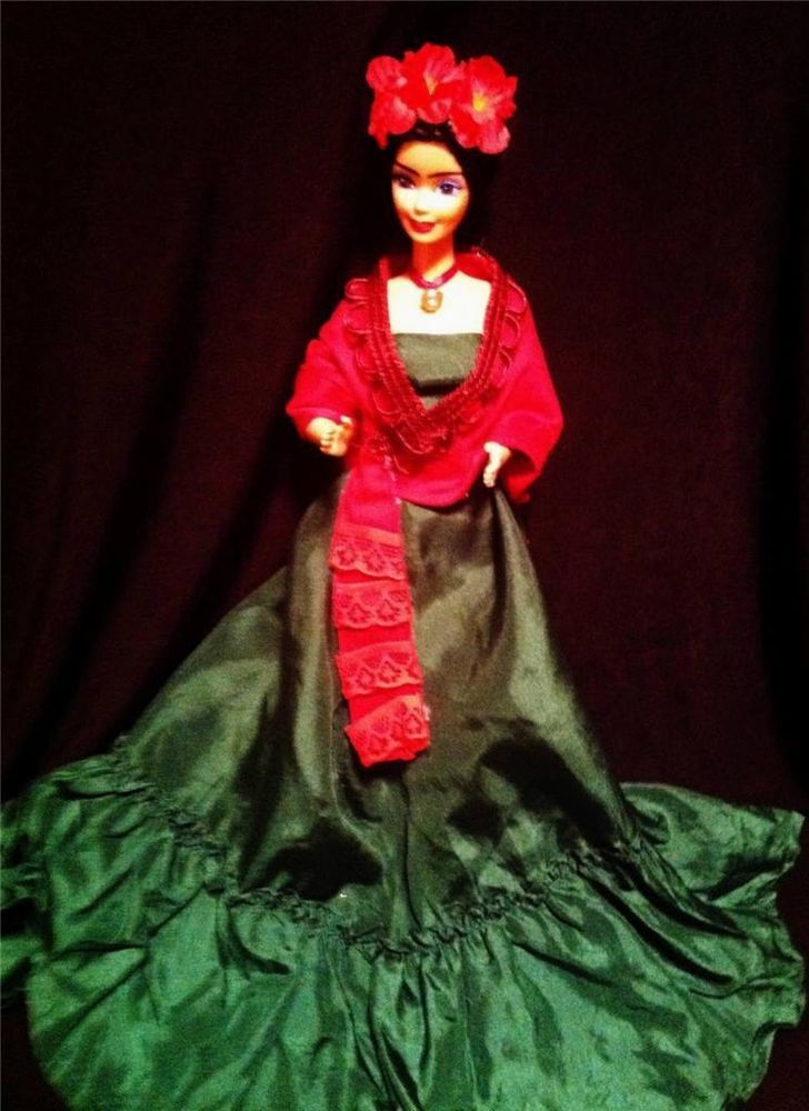 Frida Kahlo Wedding Day Mexican Artist Beauty ~ Barbie doll OOAK