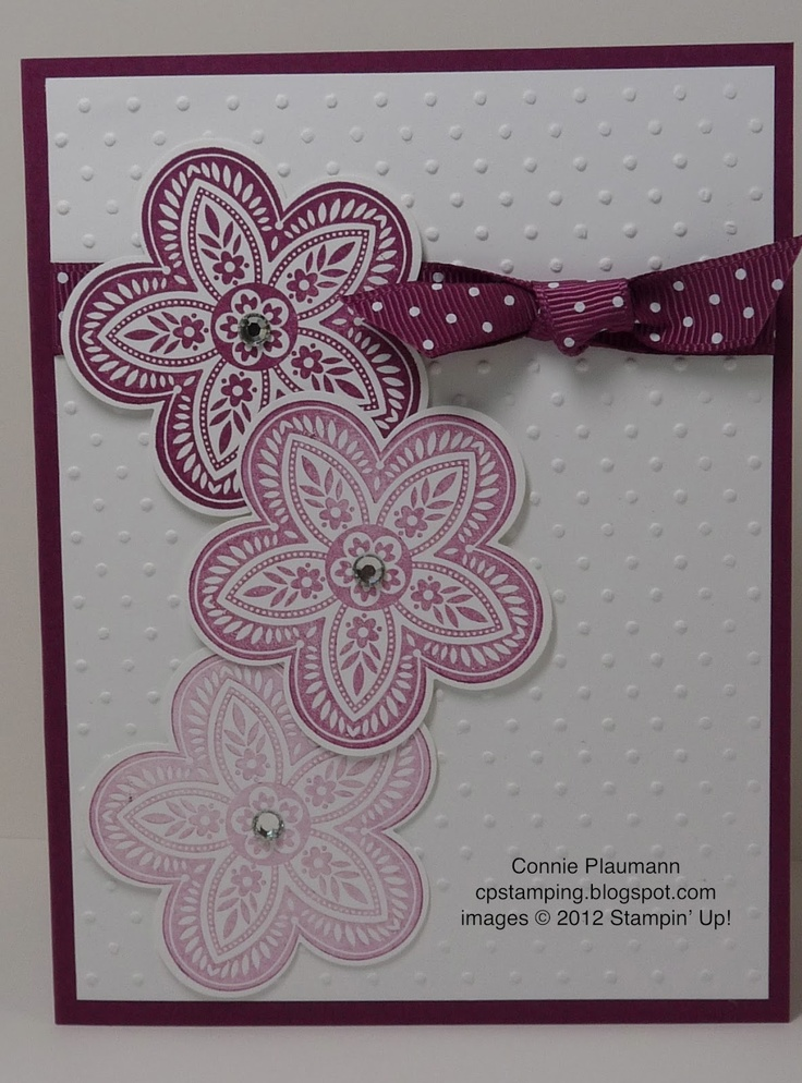24 best su triple treat flower images on pinterest diy cards triple treat flower by cojo cards and paper crafts at splitcoaststampers m4hsunfo