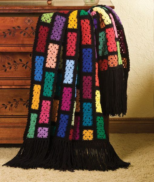 "Scraps Spectacular Blanket, free pattern by ""Talking Crochet"""