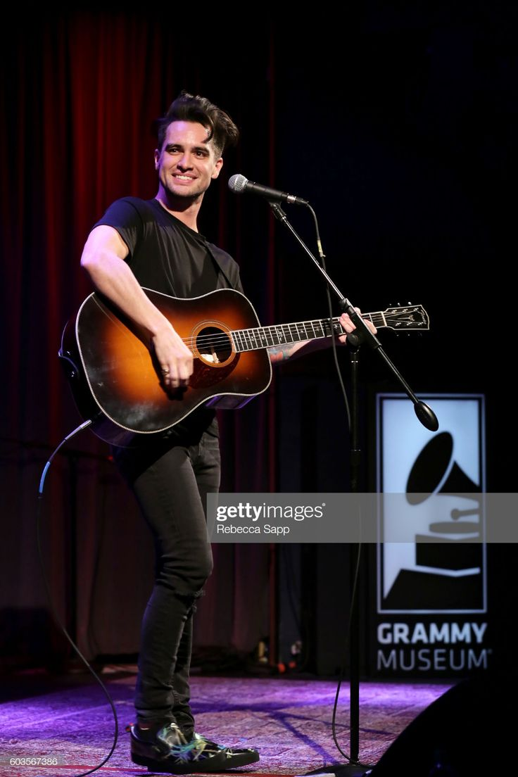 Brendon Urie of Panic! at the Disco performs at An Evening With...