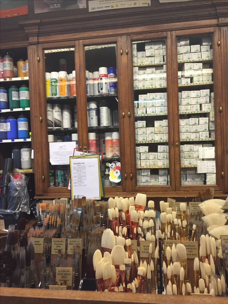 The Sennelier store on Quai Voltaire in Paris, One of the finest makers of oil paints anywhere and historically used by some of the greatest artists in France.