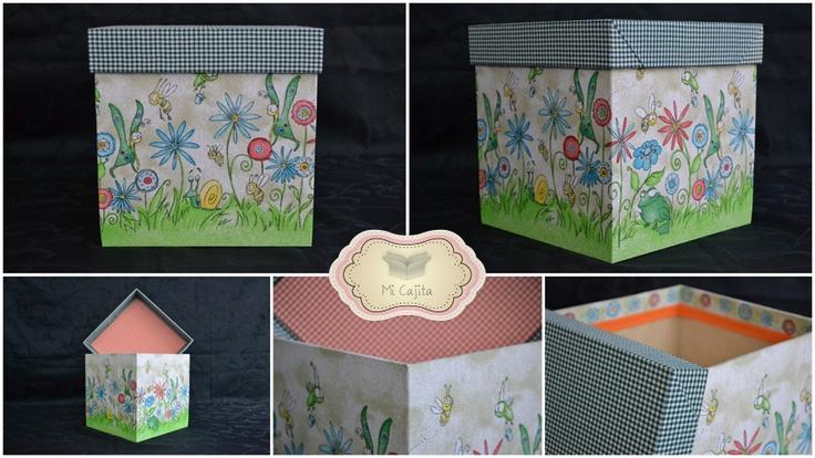 Caja de madera decorada ideal para regalar decorar - Cajas de plastico para almacenar ...