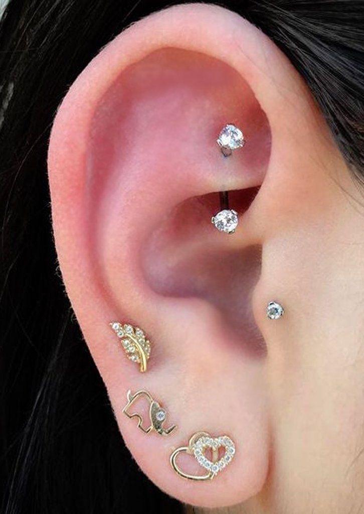 25+ bästa idéerna om Rook piercing på Pinterest ... Ear Piercing Jewelry