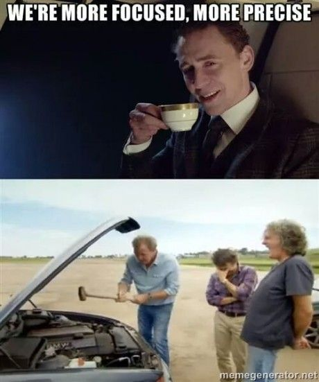 Top Gear: I guess it's just the villains who are more focused and precise (Tom Hiddleston)