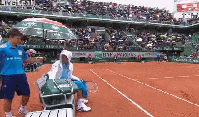 Novak Djokovic making a ball boy's day. This is literally one of my favorite gifs of all time.