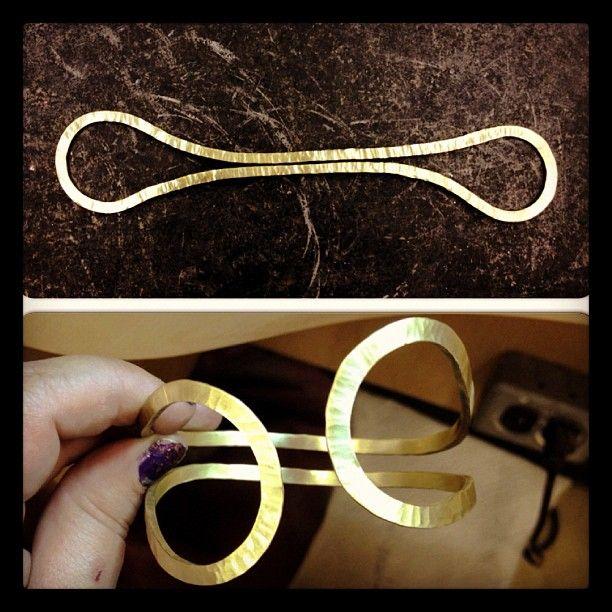 Tynessa Walters. Forged brass bracelet.