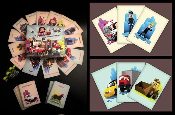 El Pasajero. Card Game. by Tony Ganem, via Behance