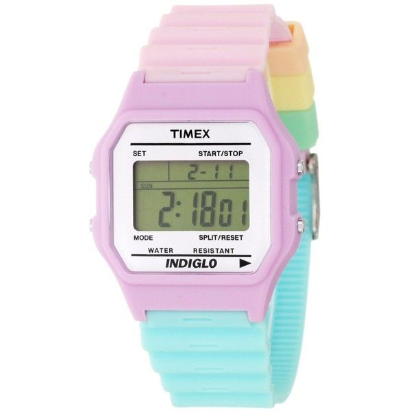Timex Women's T2N4869J Fashion Digitals Premium Purple Watch ($40) ❤ liked on Polyvore