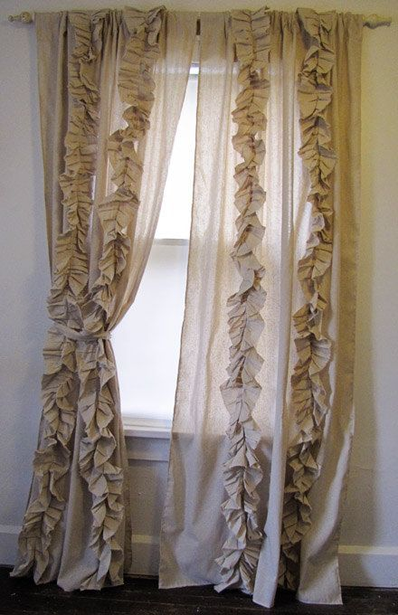 CUSTOM Tattered Ruffles Drapes Dreamy Romantic by besserina