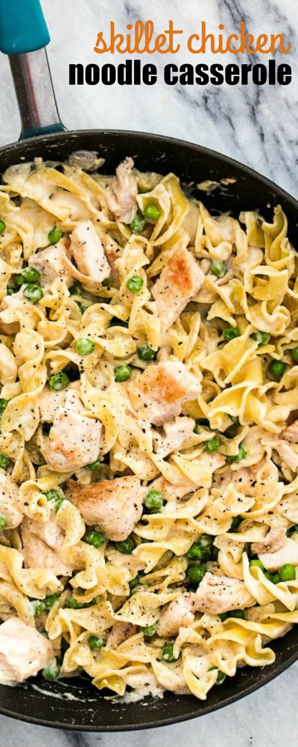 This 30-minute creamy SKILLET CHICKEN NOODLE CASSEROLE is the perfect…