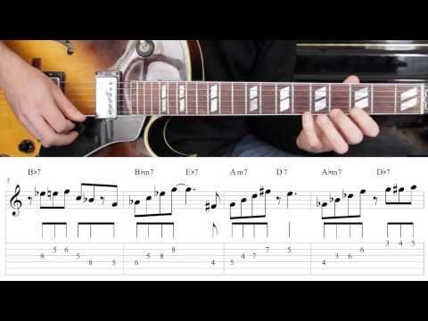 Jazz Guitar Lesson #30 - Progression #3 (Blues for Ali) - Improvisation #6