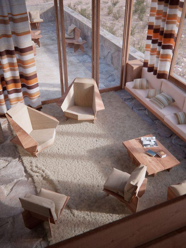 David Romero recreates Frank Lloyd Wright buildings in colour