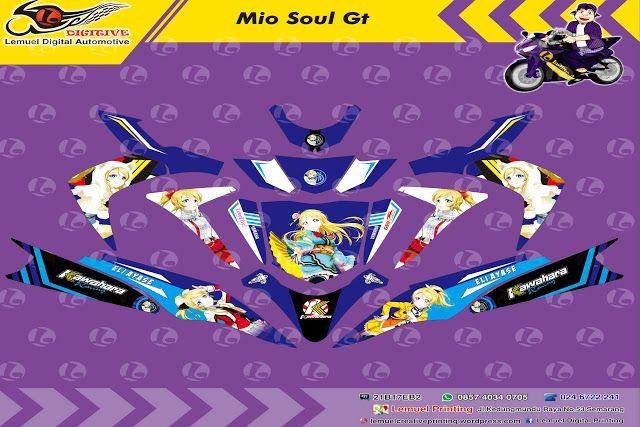 Custom Decal Vinyl Striping Motor Full Body Yamaha Soul GT Thema Love Live Eli Ayase Feat Kawahara Racing Berkualitas by DIGITIVE #Blogging101 #DecalVinylStripingMotorFullBody #DIGITIVE #KreatifitasLeMuel #LeMuel #ProdukProdukKreatifLeMuel #StripingMotorFullBody #StripingMotorSoulGT #StripingMotorSemarang